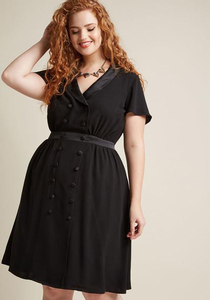 MCD1438 dress black dress back short black