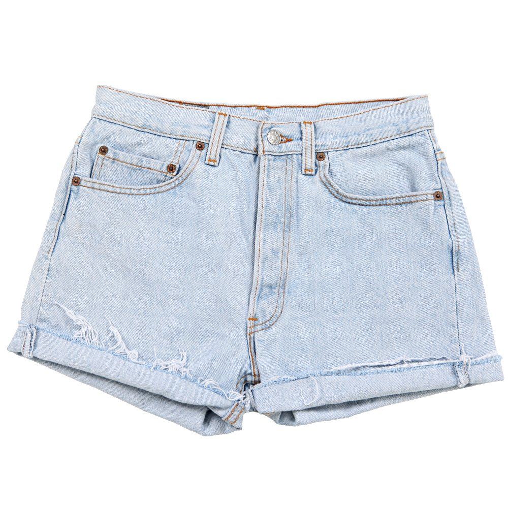 levis denim shorts light denim