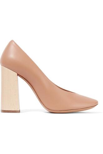 pumps leather shoes