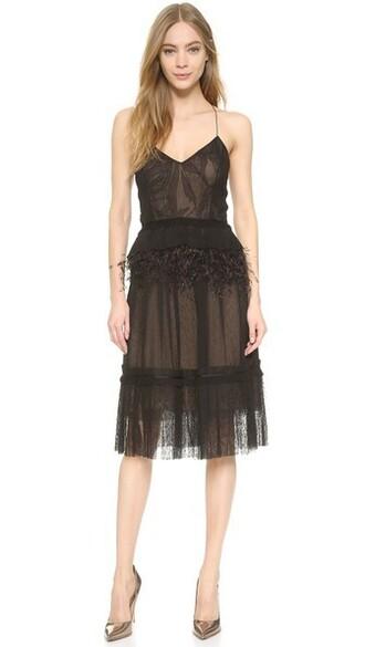 dress slip dress lace black