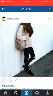 bag,pink,light ink,sac,rucksack,embellished,instagram,gym,leather,pretty,side bag,fashion