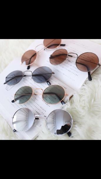 sunglasses summer sun hippie glasses round sunglasses