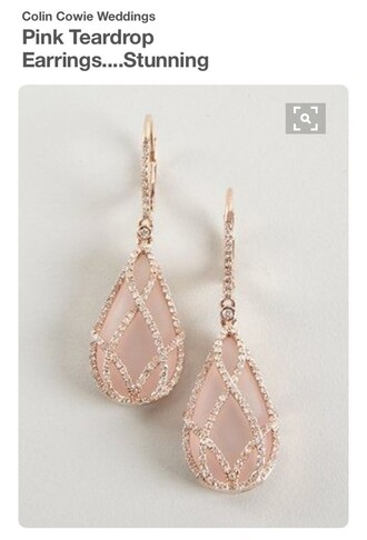 jewels blush pink rose gold earrings