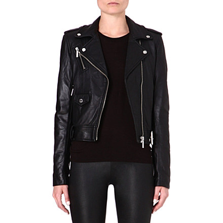 MICHAEL KORS - Leather moto jacket | Selfridges.com