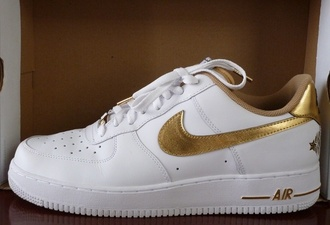 shoes nike all star game 2011 metallic gold white special edition hollywood los angeles nike air force 1 basketball shoes