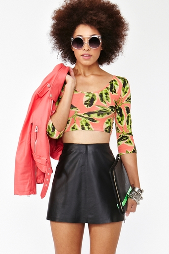 Palm Beach Crop Top  in  Collections July Lookbook at Nasty Gal