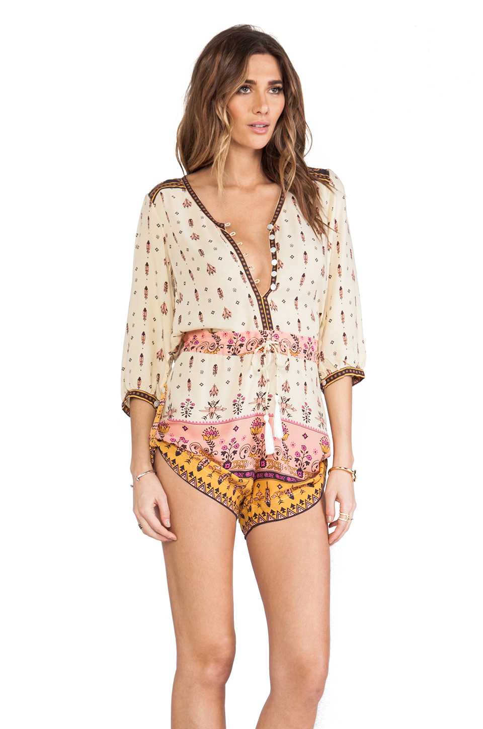 Spell & The Gypsy Collective Desert Wanderer Playsuit in High Moon | REVOLVE