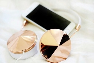earphones gold earphones gold gold headset style girly headset iphone iphone 5 case fashion