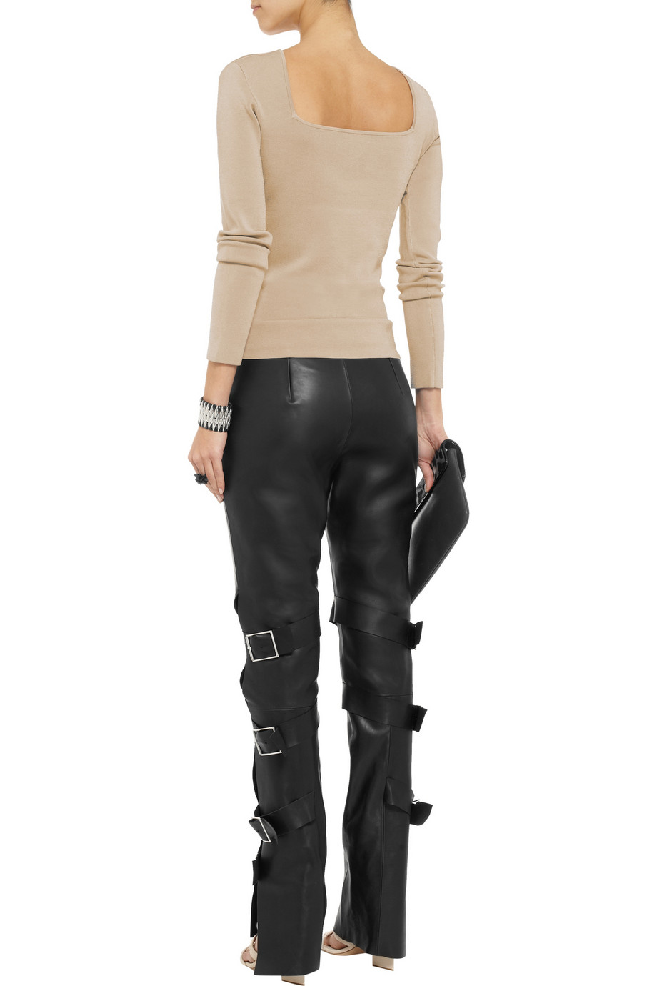 Acne Studios Verena leather bootcut pants – 65% at THE OUTNET.COM