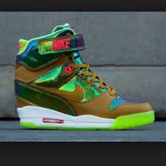 shoes nike sneakers green white nike pink fashion sneakers yellow nike