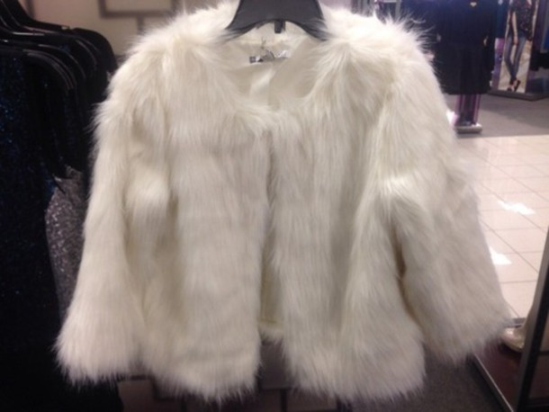 Women Fake Fur Jacket Winter White Fur Coat Long Hairy Flurry Fur ...