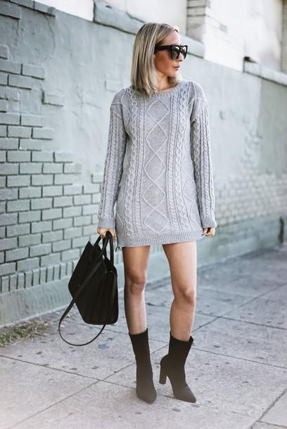 Dress Tumblr Grey Grey Sweater Sweater Dress Mini