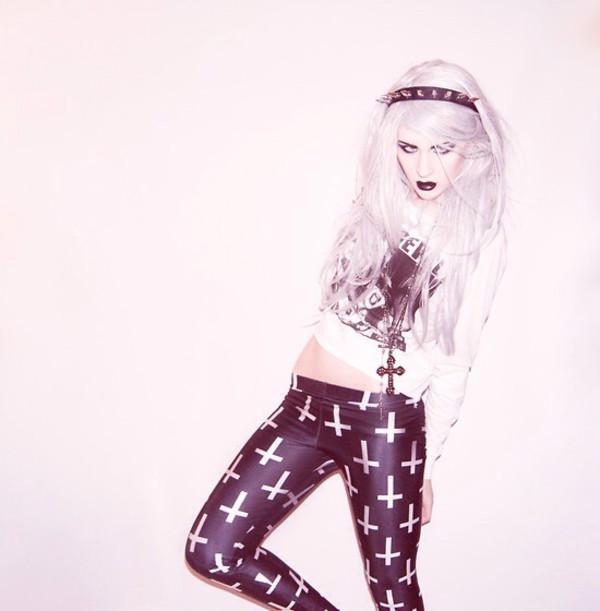 leggings pastel goth emo goth