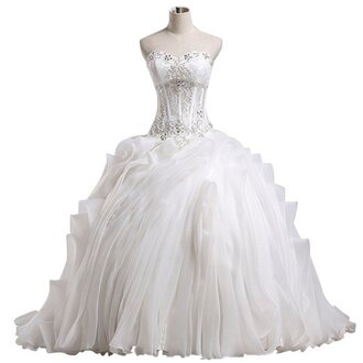 white wedding dress white bride ball gown dress for bride dress