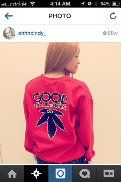 infinity white red black sweater weed weed good vibes