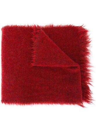 women spandex mohair scarf wool red