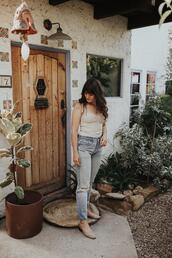 the mop top,blogger,top,jewels,jeans,shoes
