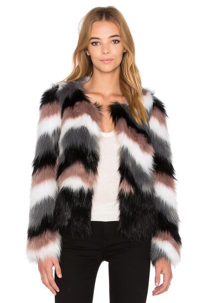John & Jenn by Line jacket faux fur jacket fur jacket fur faux fur black