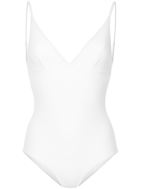 MATTEAU women spandex white swimwear