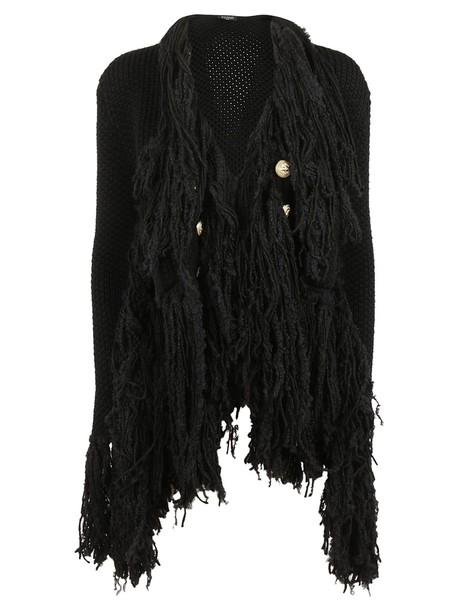 Balmain cardigan cardigan embellished black sweater