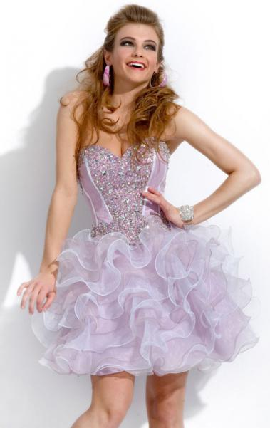 Online Mini(above knee) Lilac Cocktail Prom Dress LFNAC1418, Shop Prom with SheinDress.co.uk