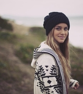 jacket,clothes,black and white,beanie,aztec,hat,blouse,norway,black,white,aztec sweater,sweater,casual,comfy,cardigan,iphone cover,outfit,style,stylish,fabulous,fashion