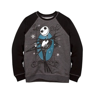 sweater black sweater jack skellington the nightmare before christmas disney disney sweater blue