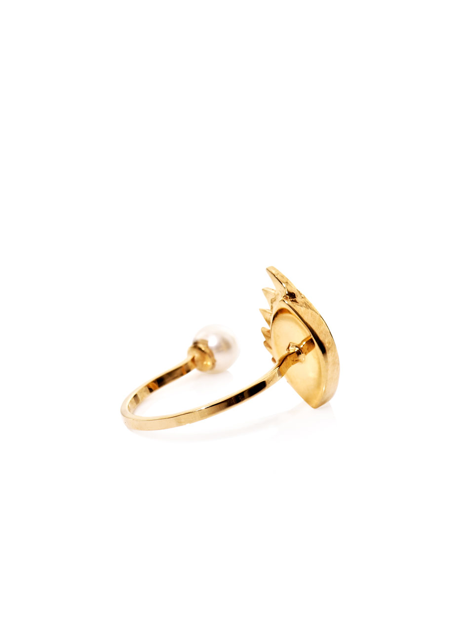 Gold, pearl and enamel eye ring | Delfina Delettrez | MATCHESF...