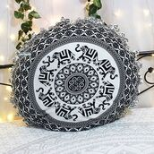 home accessory,pillow,multimatecollection,indian pillow,cheap pillow,round pillow,decorative pillows,black elephant