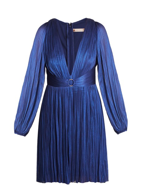 Maria Lucia Hohan dress tulle dress pleated blue