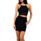Black cut out front lace detail dress | emprada