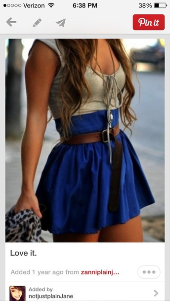 skirt blue high waisted skater skirt blue skirt blue cute high waisted skirt dress