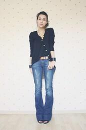 coline,blue jeans,black jeans,jeans