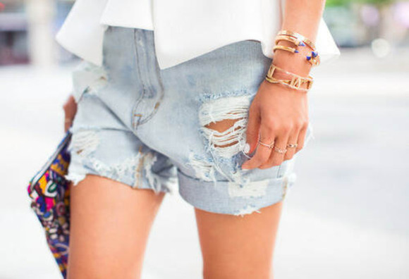 shorts denim denim shorts ripped jeans casual cute