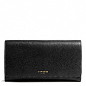 Coach :: CHECKBOOK WALLET IN SAFFIANO LEATHER