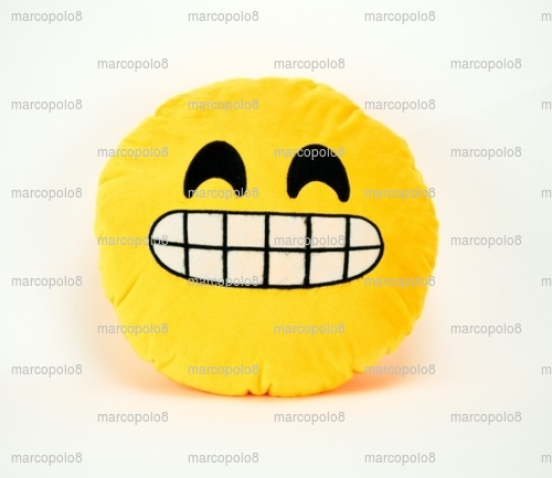 Emoji Icon Kissing Kiss Love Heart Yellow Round Cushion Pillow Valentine Gift