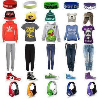 shirt red white purple adidas beats nike high tops pands blue green frog hat jeans top hoodie sweater converse sweatpants diamond supply co. pants