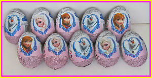 10EGGS x Chocolate Surprise Eggs with Toy Disney Frozen | eBay