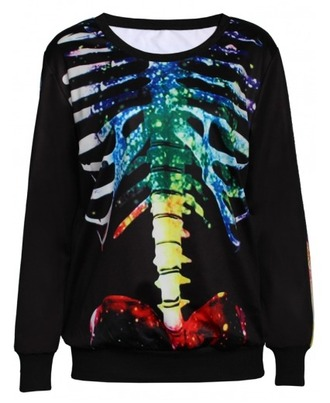 shirt oversized sweater rainbow skeleton sweater graphic sweater pullover