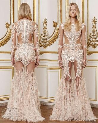 dress designer see through givenchy beyonce long dress beige dress long prom dress