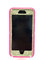 Iphone 6 plus otterbox defender series glitter sparkly bling custom case pink /white gold.