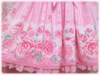 dress lolita kawaii pink pink dress roses rose pink roses
