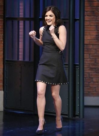 lucy hale mini dress little black dress