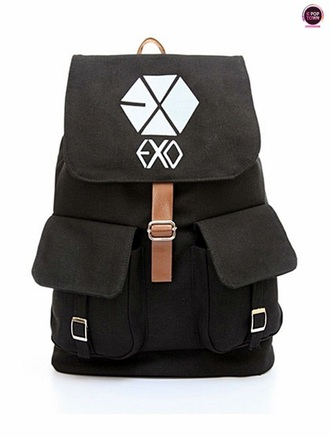 bag exo backpack kpop band merch korean fashion