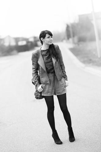 estelle blog mode t-shirt shorts jacket shoes