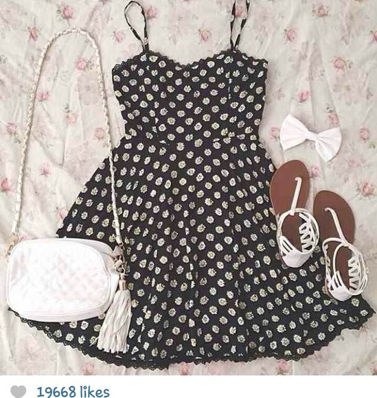 dress cute dress summer dress daisy dress black, white, yellow, daisy, strapless, top, high waisted, shorts, studs, dark wash summer outfits dress, vintage, floral, summer, mint, indie, hippie, hipster,