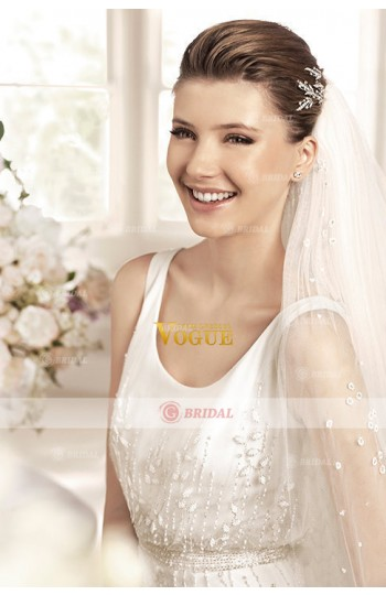 2015 Style Wedding Dresses Trumpet/Mermaid Scoop Court Train Tulle on Sale