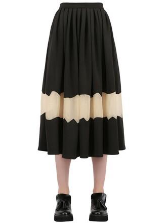 skirt chiffon skirt chiffon neoprene black