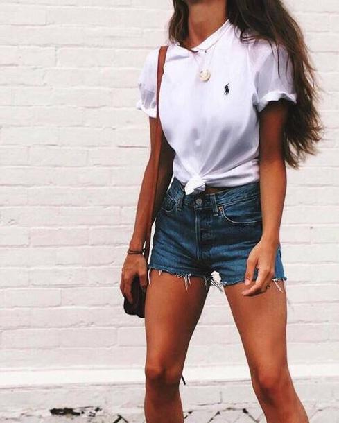 shirt ralph lauren white t-shirt white t-shirt casual t-shirts casual chic casual common white girl basic