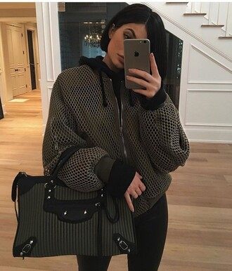jacket kylie jenner bag leggings shoes